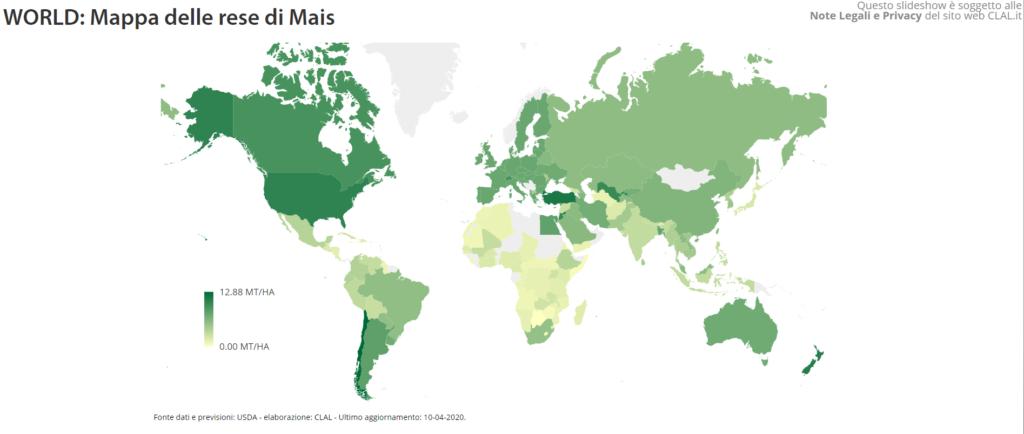 TESEO - Mappa delle rese di Mais